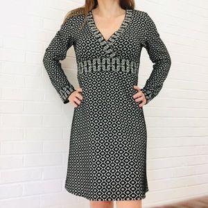 Max Studio Knit V-Neck Long Sleeve Dress S